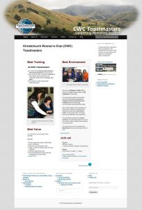 CWC Toastmaster's Home page