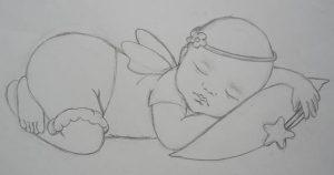 sketch of Sleep Tight Baby