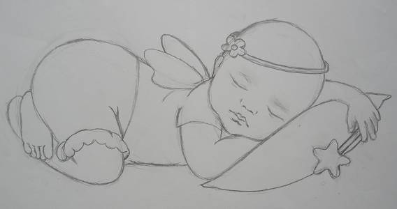 sketch of Sleep Tight Baby