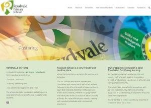 Screencapture of Roydvale School website