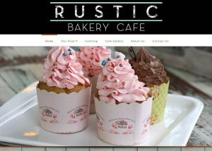 screencapture of Rustic Bakery Cafe website