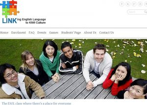 screencapture of LINK English Language website