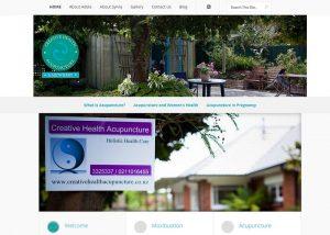 screencapture of Creative Health Acupuncture & Midwifery website