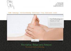 screencapture of Hands on Feet website