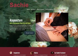 screencapture of Sachie Acupuncture website