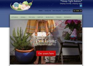 screencapture of Sleep Tight Babies website