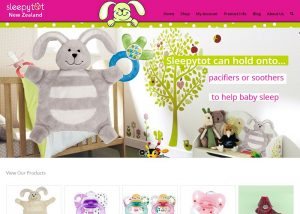 screencapture of Sleepytot website