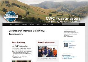 screencapture of CWC Toastmasters website