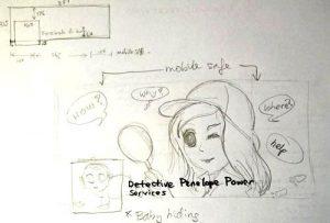 rough sketch of Penelope Powers