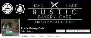 Facebook Page cover picture for Rustic Bakery Cafe