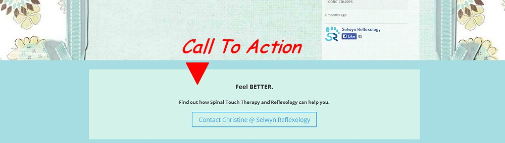 Website design call to action button