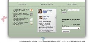 Website footer with widgets
