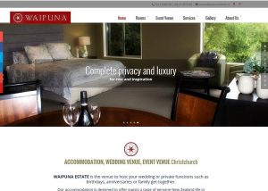 Screenshot of Waipuna Estate website