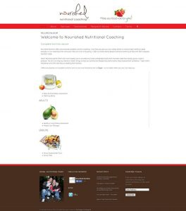 Website redesign old home page version 2