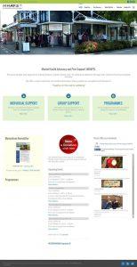 screenshot of mhaps website 2015