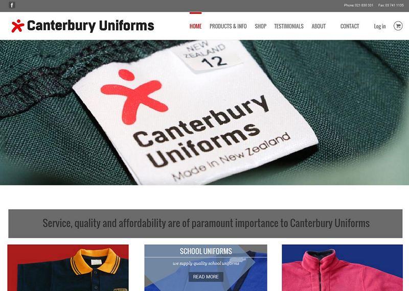 Canterbury Uniforms screenshot