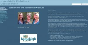 Homebirth Midwives' old website