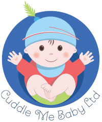 cuddle me baby logo or mascot