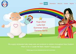 small screenshot of Cuddle Me Baby website