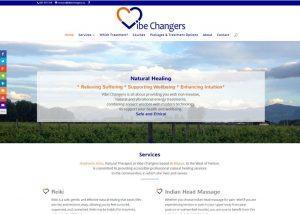 screenshot of Vibe Changers website