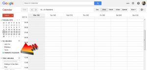 find your google calendar