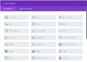 Divi content modules