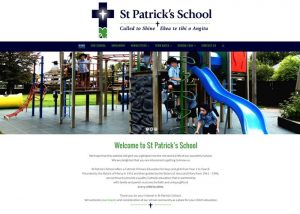 St Patrick's School website screenshot