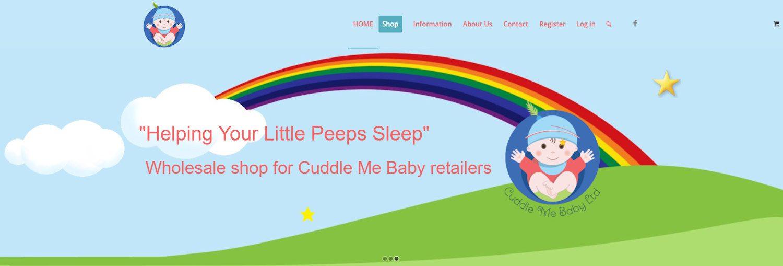 cuddlemebaby website design