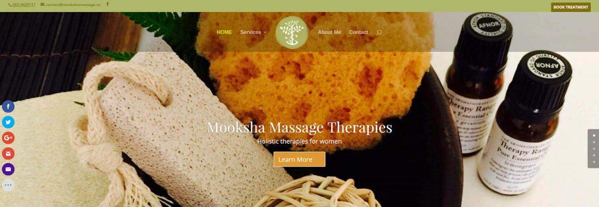 Mooksha website design project capture