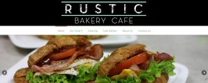 Rustic Bakery web design project