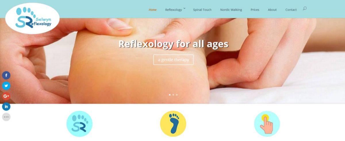 Selwyn Reflexology web design project