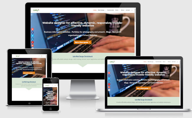 One page website or landing page