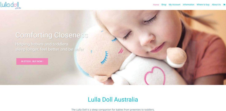 WebDesign for Lulla Doll Australia