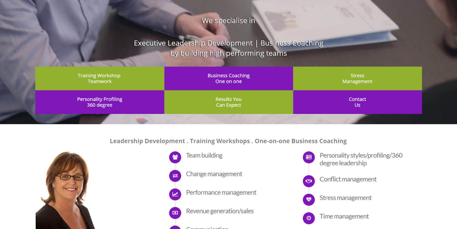 Website Re-design for Business Coach