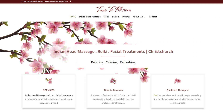 Web Design for Time to Blossom