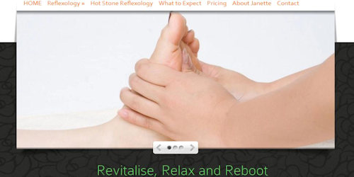 Screenshot of Hands on Feet Website