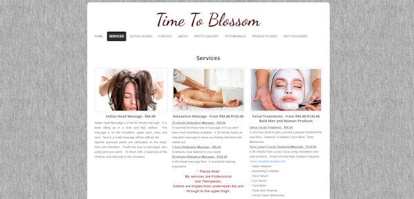 Screenshot of old TTB website