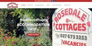 Screenshot of Rosedale Cottages website