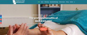Screenshot of redesigned website