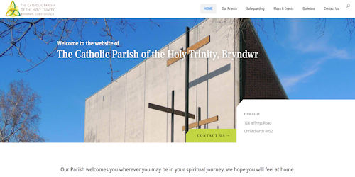 Screenshot of Bryndwr Parish website