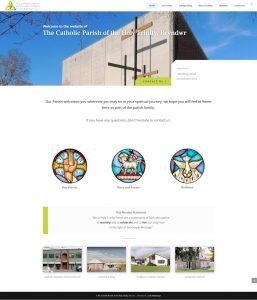Church website screenshot