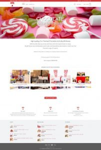 full page screen capture of Sweets for my Sweet home page