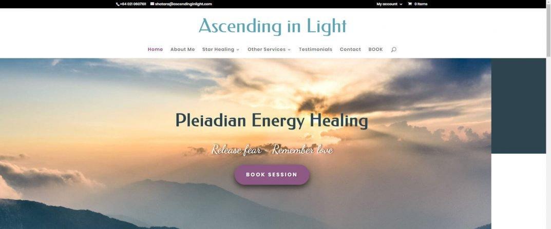 Completing design of Healing Energy Website