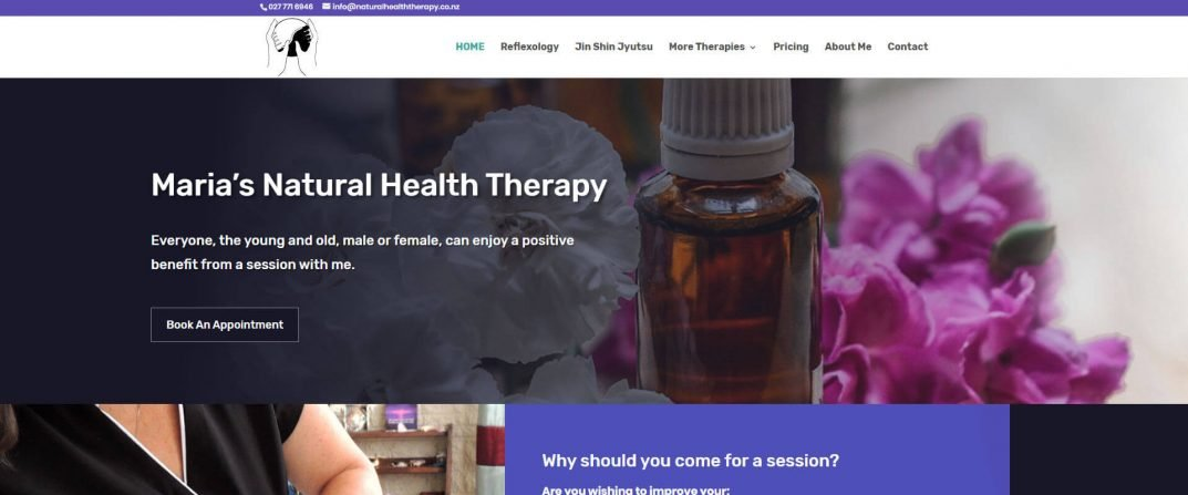 Natural Health Therapy website