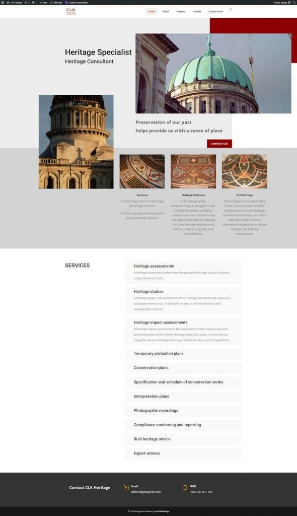 Webdesign for consultant draft 2