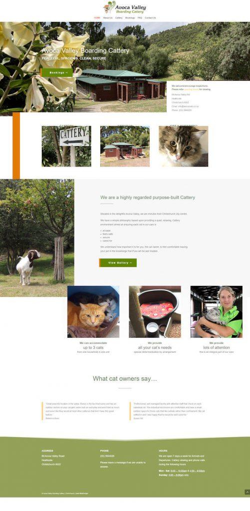Cattery Website design screenshot