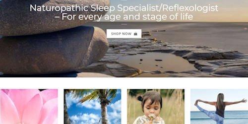Screenshot of Sleep Support eCommerce website